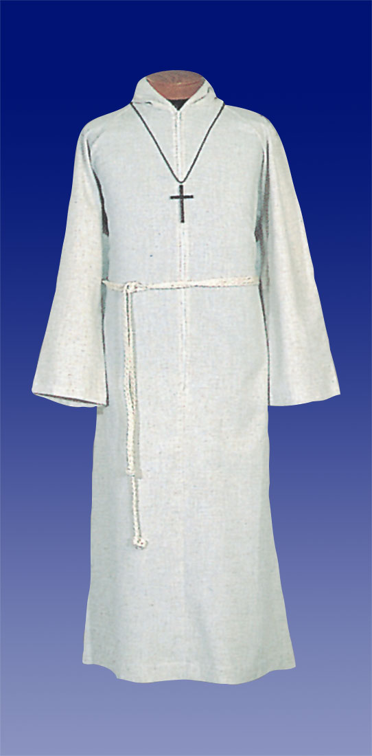 Altar Server Alb | Flax Poly Rayon | Zipper | 555