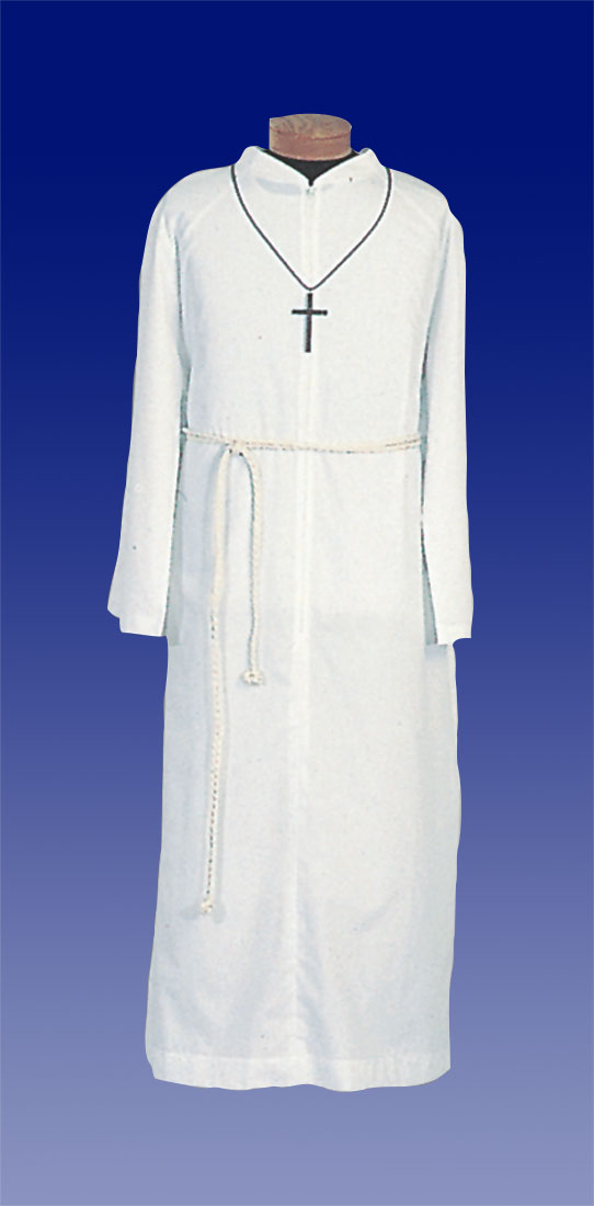 Altar Server Alb | Poly Cotton | Zipper | 556