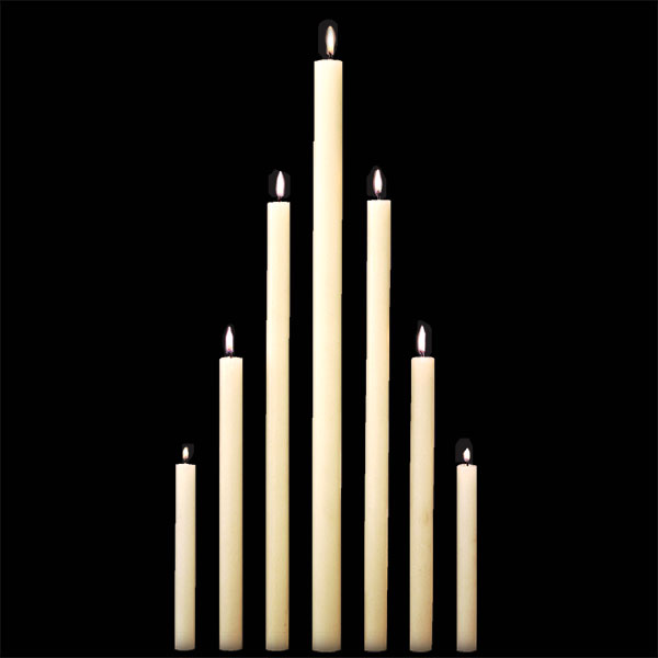 Altar Candles 51% Beeswax - Dadant Candle