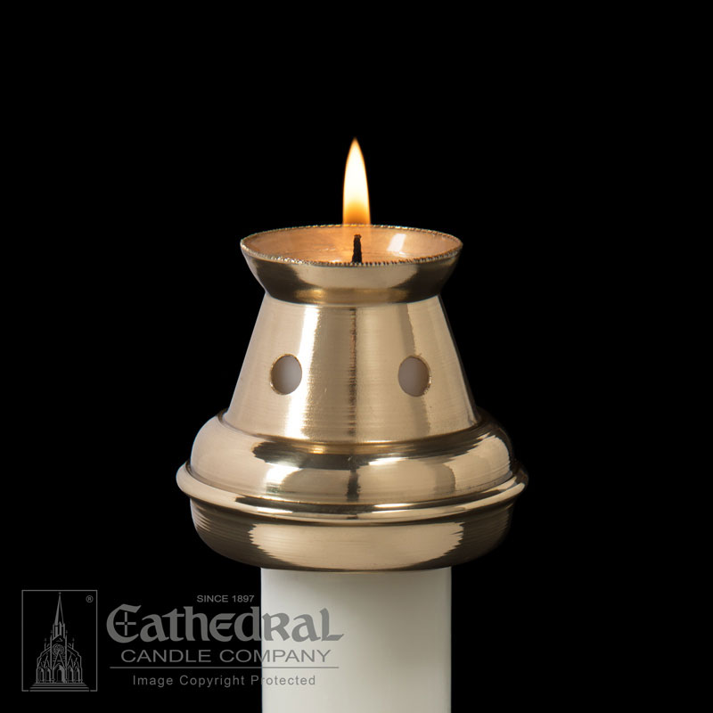 Candle Followers Bove Style Brass Followers