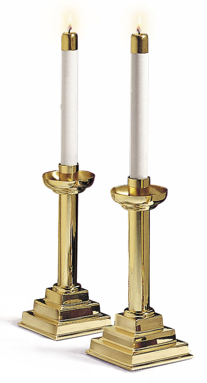 Brass Candlesticks | pair