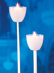 Vigil Candle Plastic Wind Protector - White, box of 100