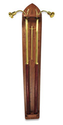 Candlelighter One-Piece Wood Holder, walnut