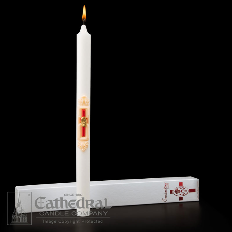 Cathedral Candle - The Christian Rites RCIA Candle
