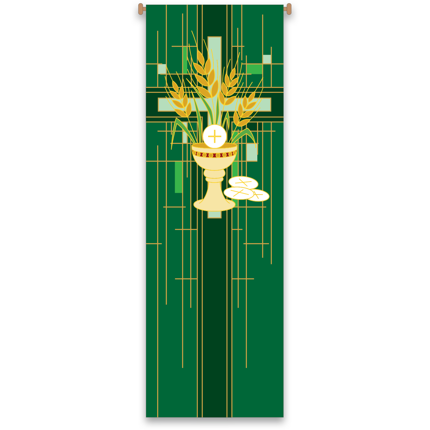 Church Banner | Communion | Green