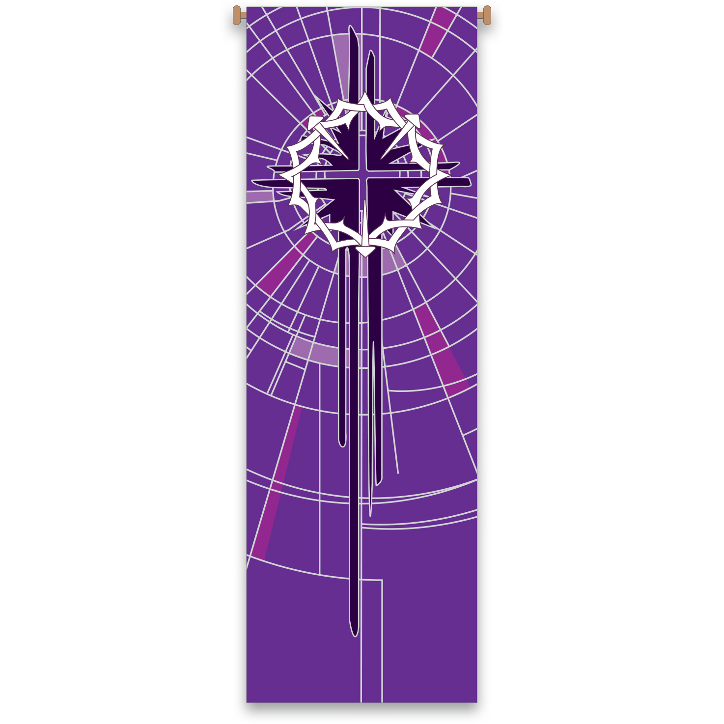 Church Banner | Crown of Thorns | Purple Lenten