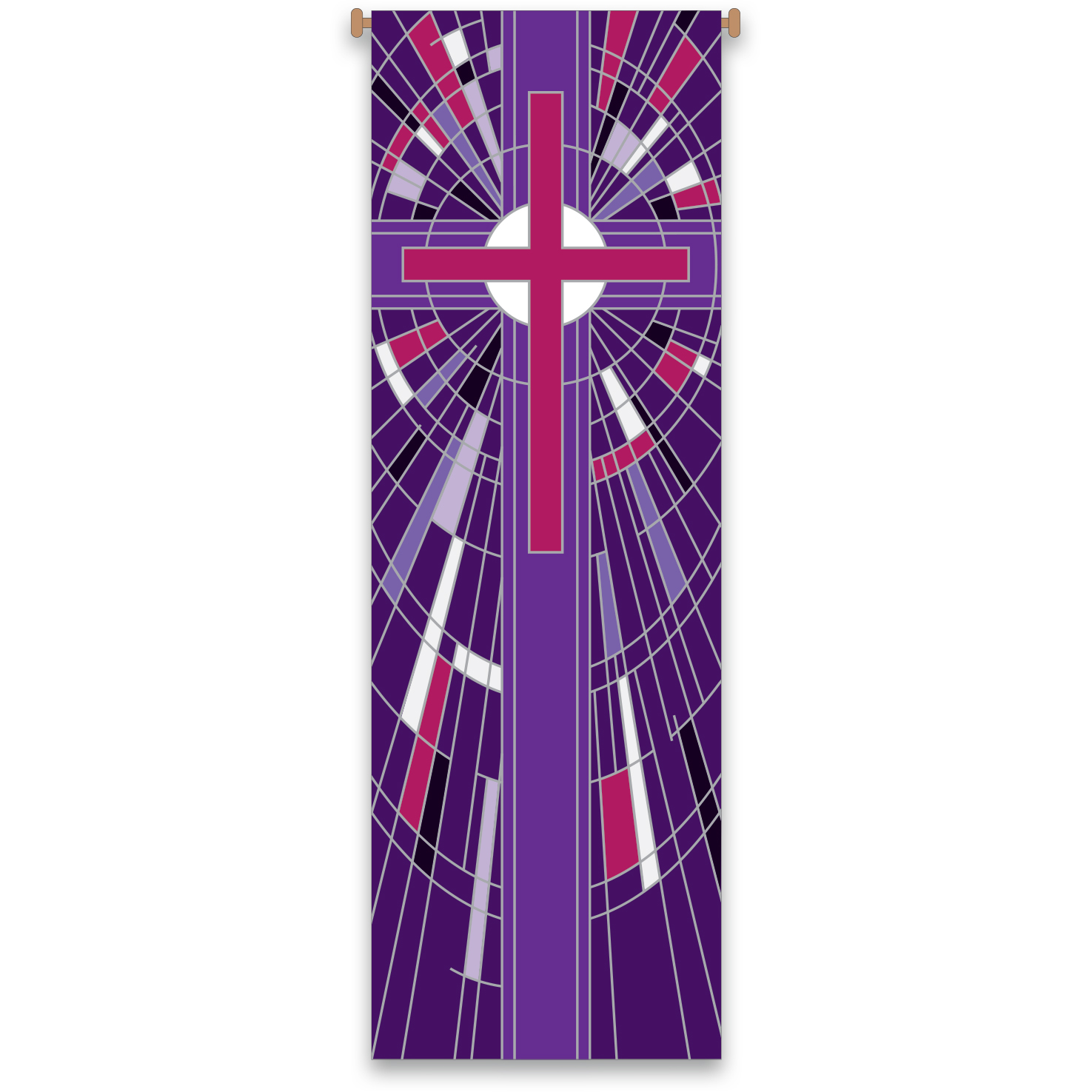 Church Banner | Purple | Stained Glass Design