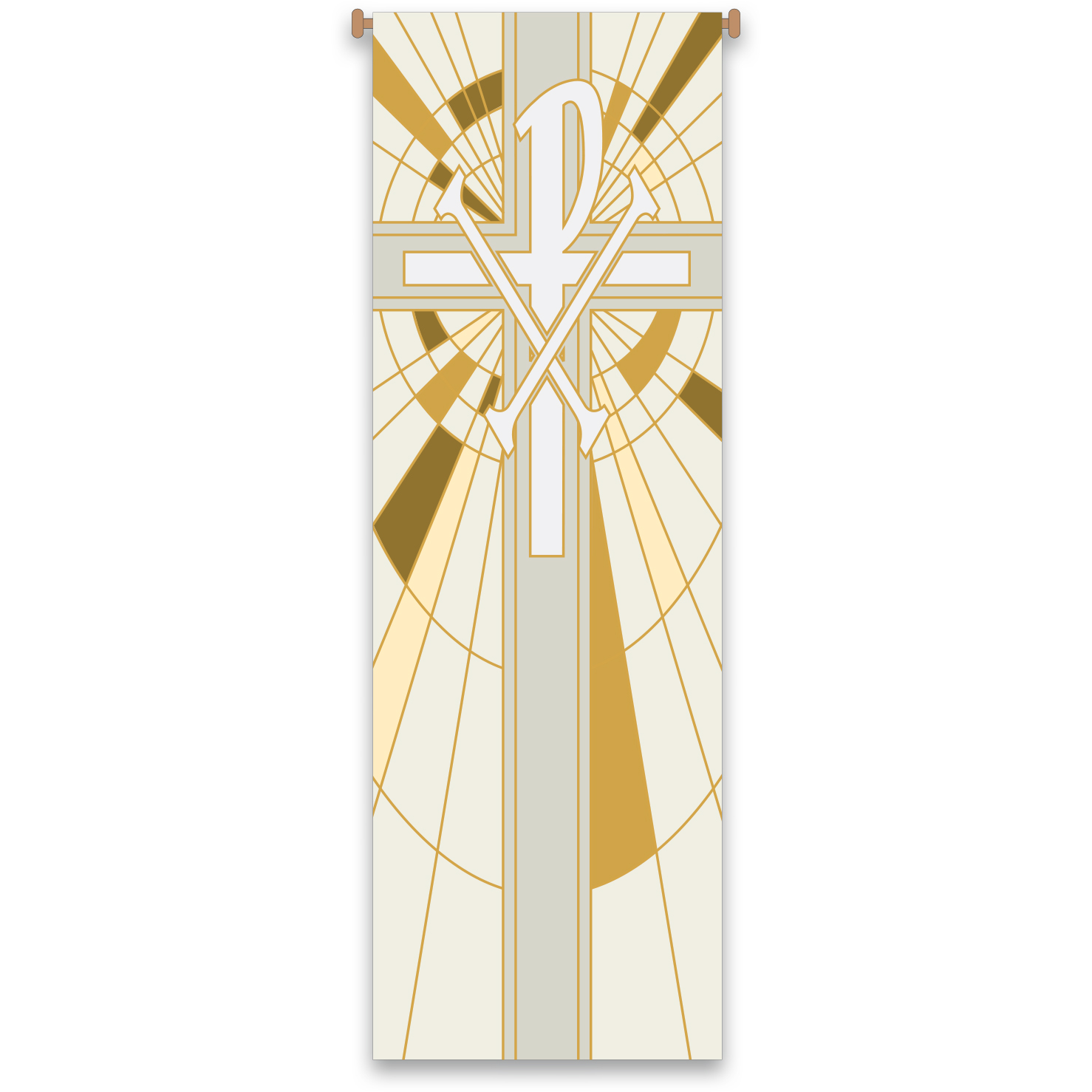 Church Banner | Chi Rho |