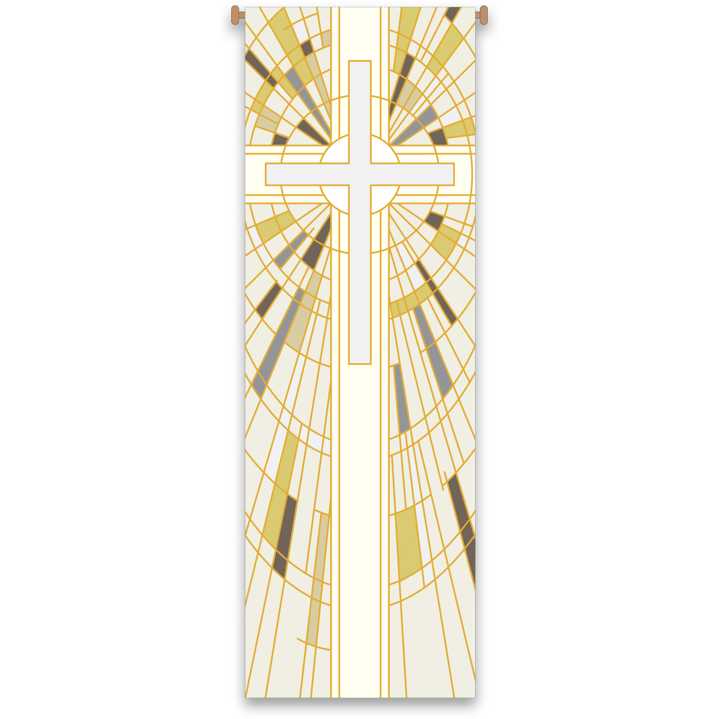 Church Banner | White | Stained Glass Design