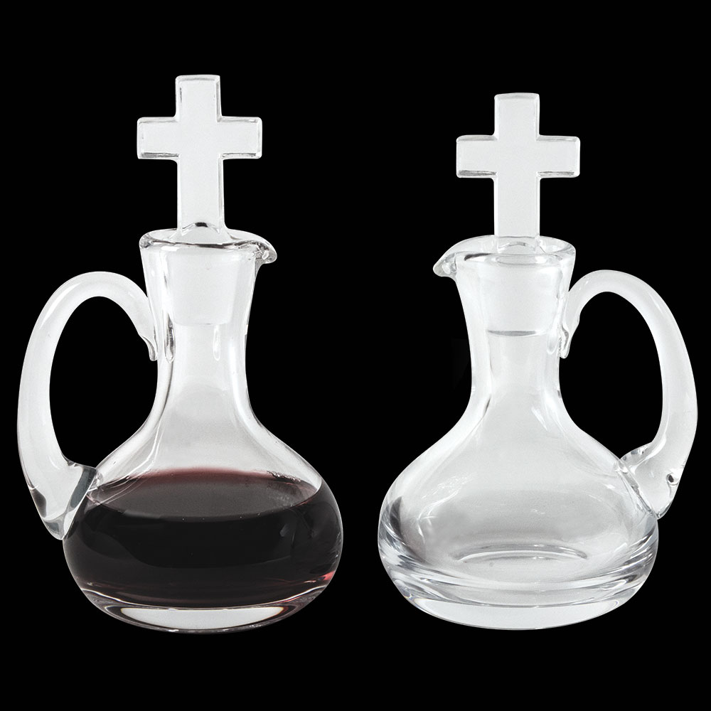 Cruet Set for Communion Wine | Glass | 6 oz | CB-4