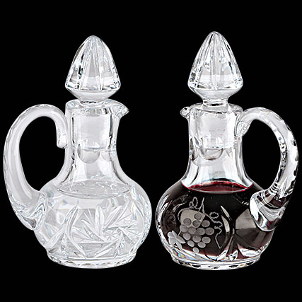 Cruet Set for Communion Wine | Crystal | 2 oz | K955