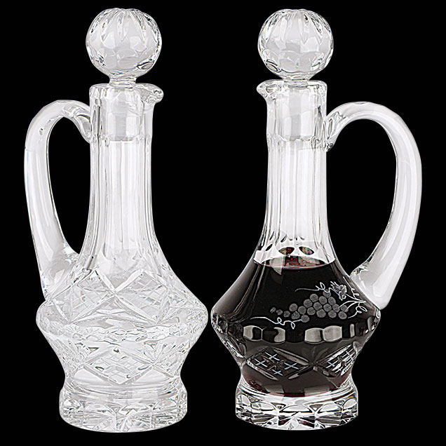 Cruet Set for Communion Wine | Crystal | 5 oz | K958