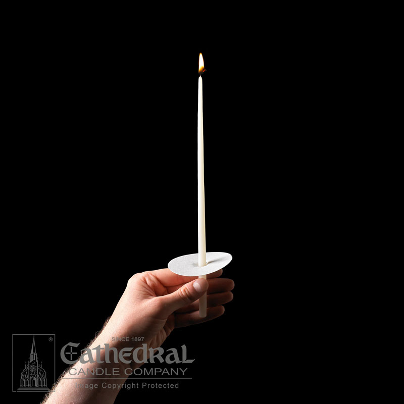 "Vigil Candles Congregational Tapers 51% Beeswax 11"", 50/Box"