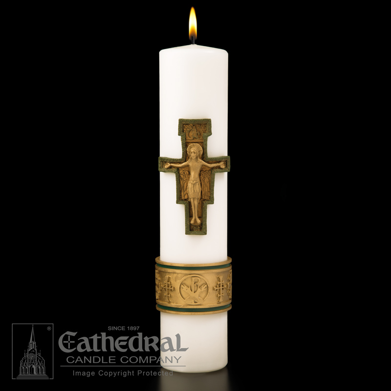 Christ Candle | Cross of Saint Francis