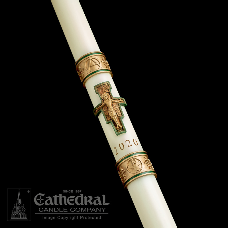 Paschal Candle | Cross of St. Francis | Sculptwax