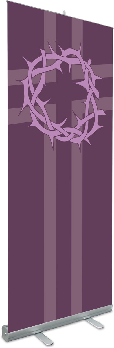 Crown of Thorns Roll Up Banner