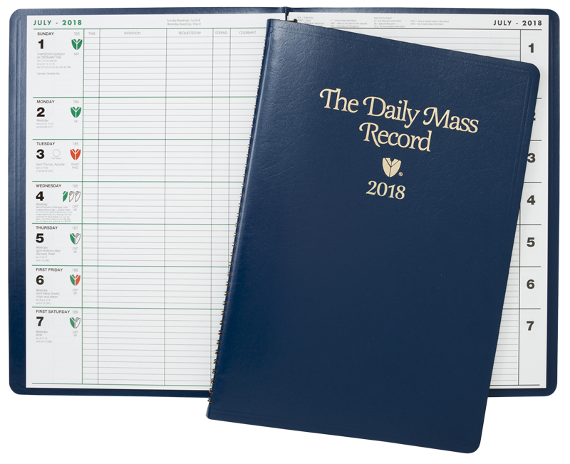 The Daily Mass Record book - 2018