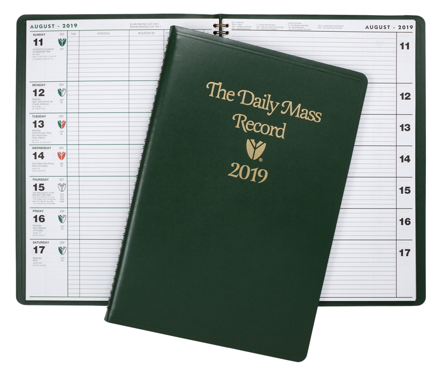 The Daily Mass Record Book | 2019