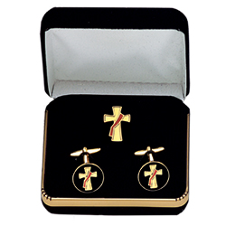 Deacon's Cross Cuff Link Set