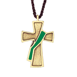 Pendant - Deacon Cross, Green