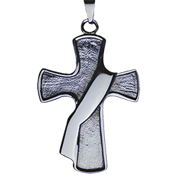 Deacon's Cross Pendant - Stainless Steel