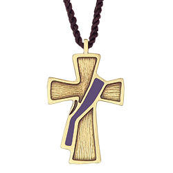 Pendant - Deacon Cross, Purple