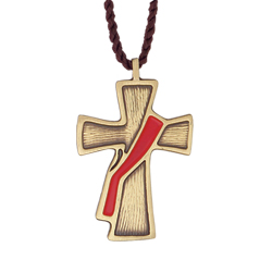 Pendant - Deacon Cross, Red
