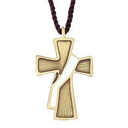 Pendant - Deacon Cross, White