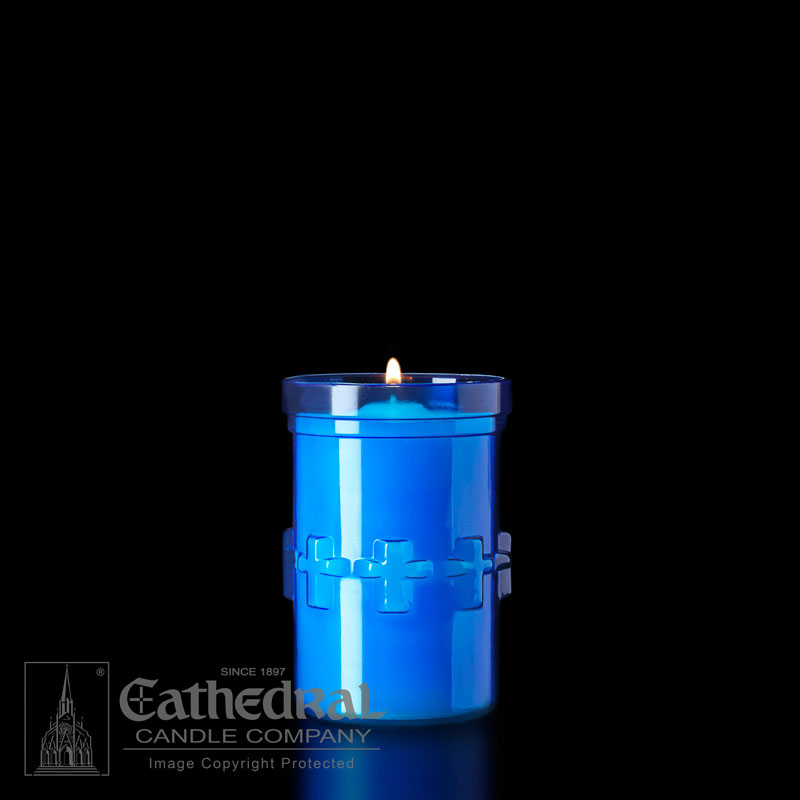 Plastic Devotional Lights | 3 Day | Blue | Cathedral Candle