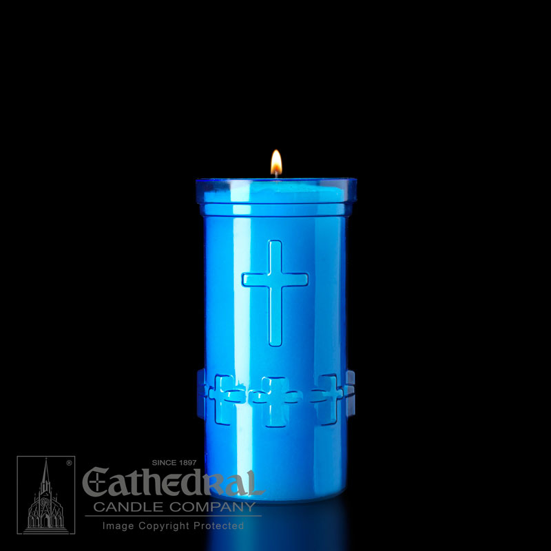Plastic Devotional Lights | 5 Day | Blue | Cathedral Candle