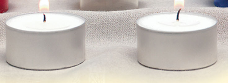 Disposable Aluminum Tea Lights | 5 hour | case of 576