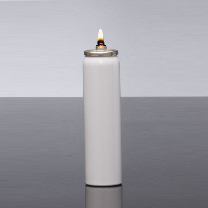 Disposable Oil Burning Candle | 25 Hour | Case of 12 | Metal