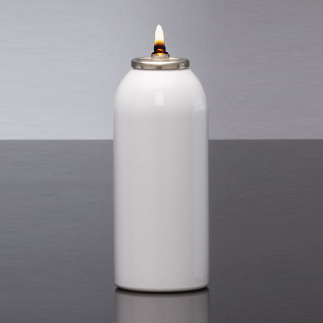 Disposable Oil Burning Candle | 45 Hour | Case of 12 | Metal