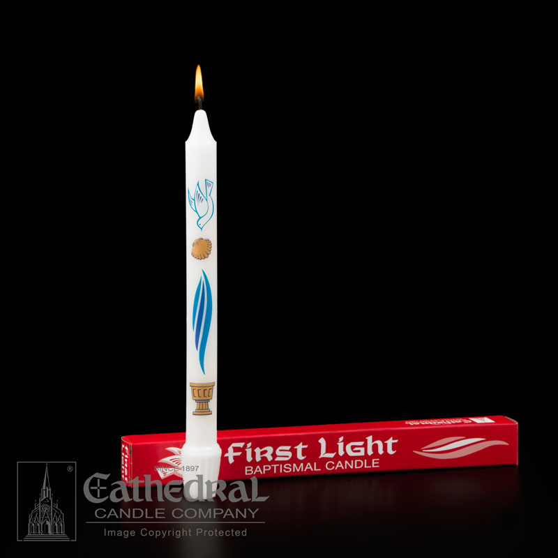 Baptismal Candle First Light