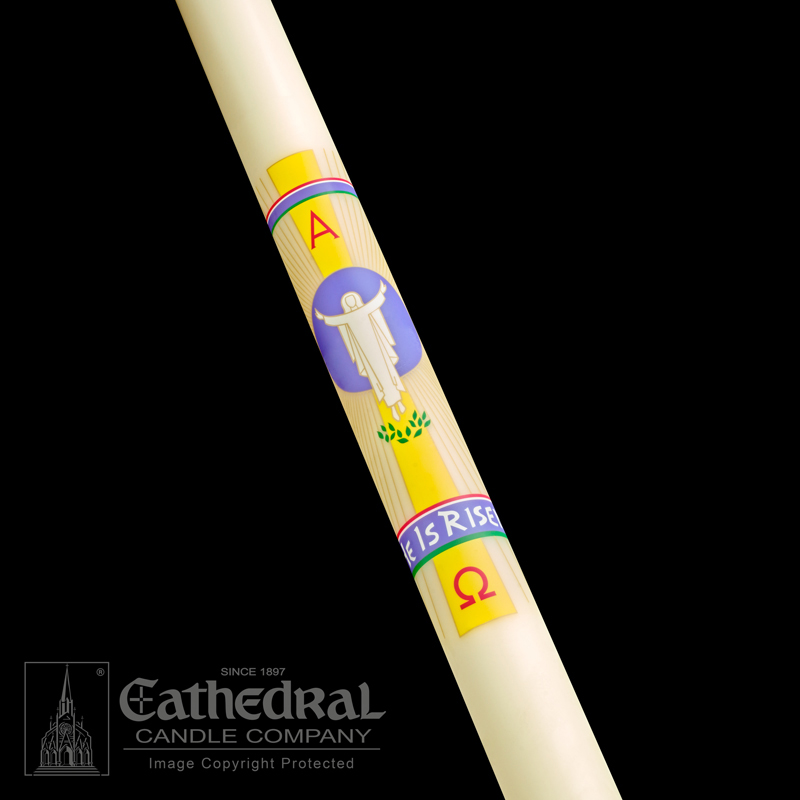 Paschal Candle | He is Risen | Classic