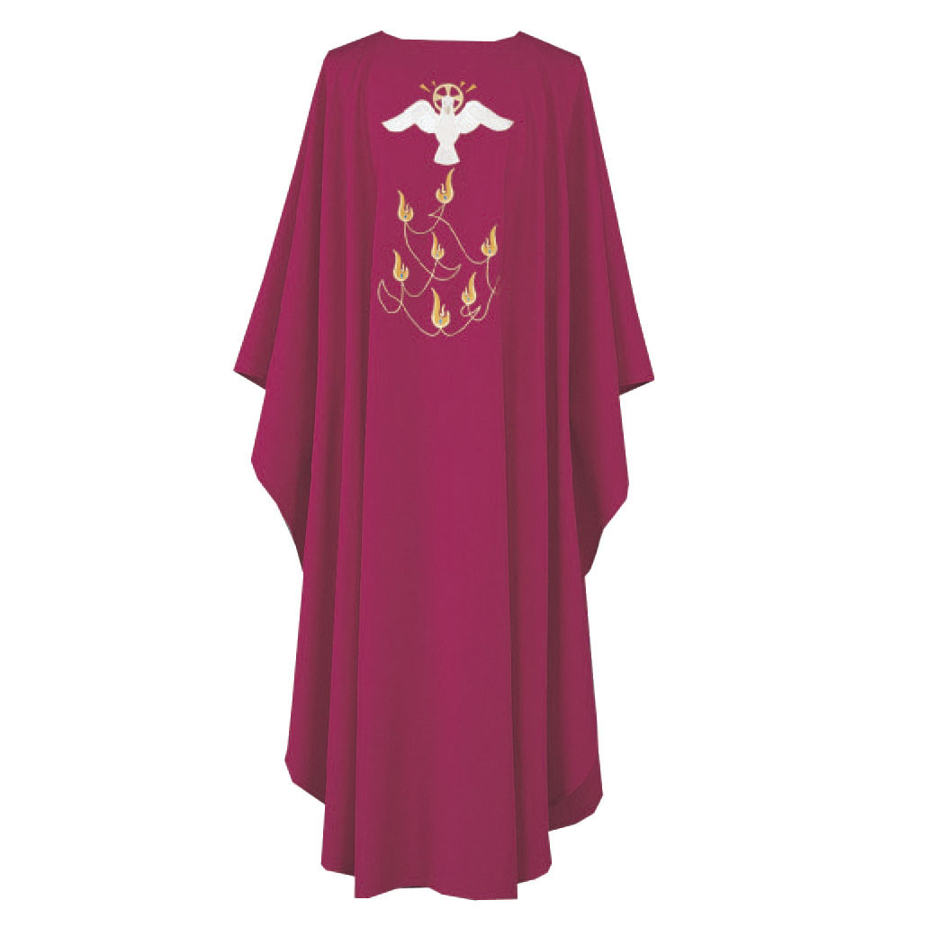 Holy Spirit Dove Chasuble | Red