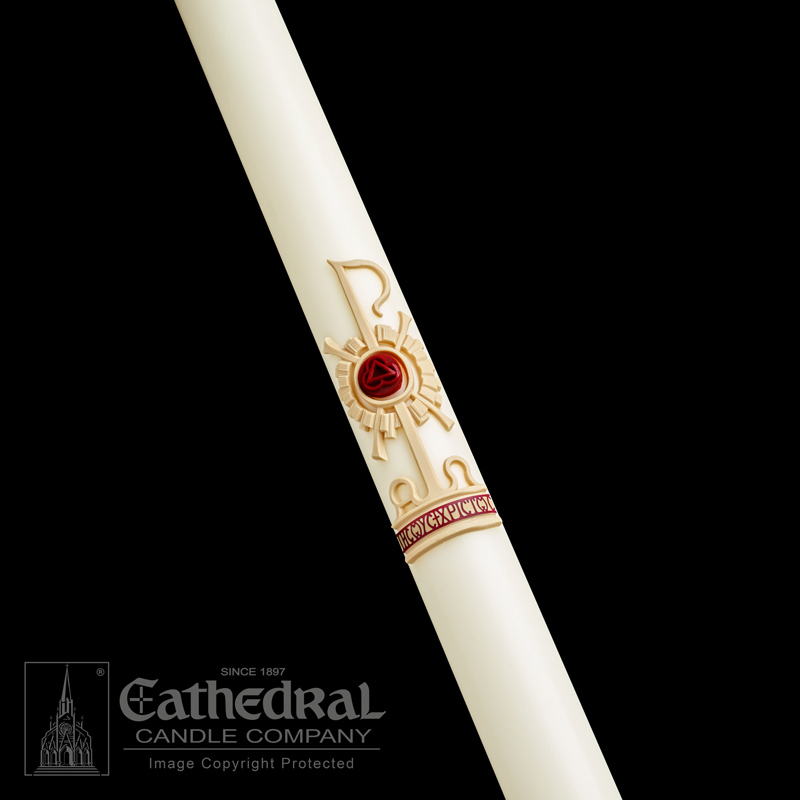 Paschal Candle | Holy Trinity | Sculptwax