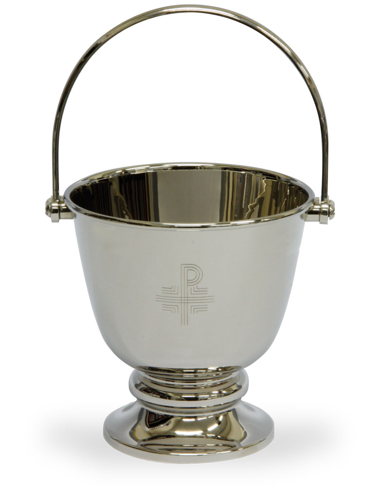 Holy Water Bucket | Nickel Plated