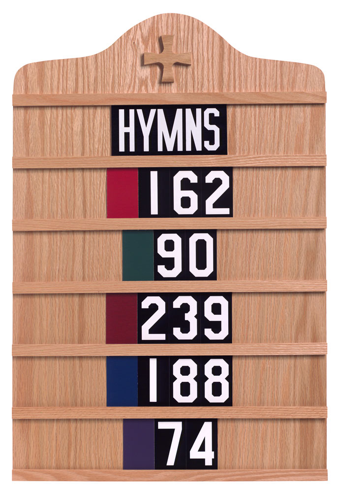 Hymn Board | Light Oak or Dark Oak