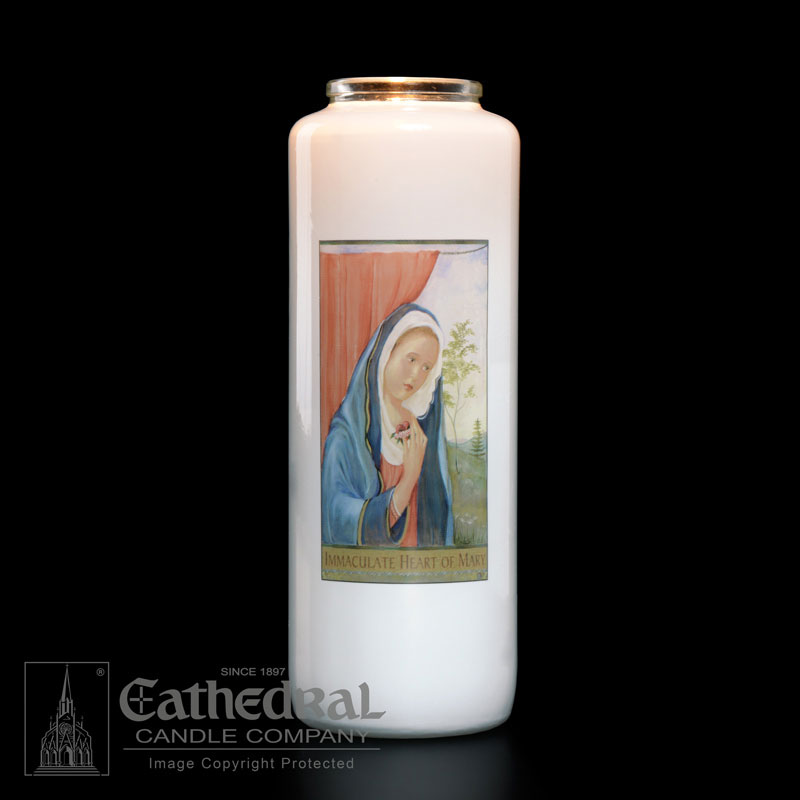 Immaculate Heart of Mary Patron Saint Candle