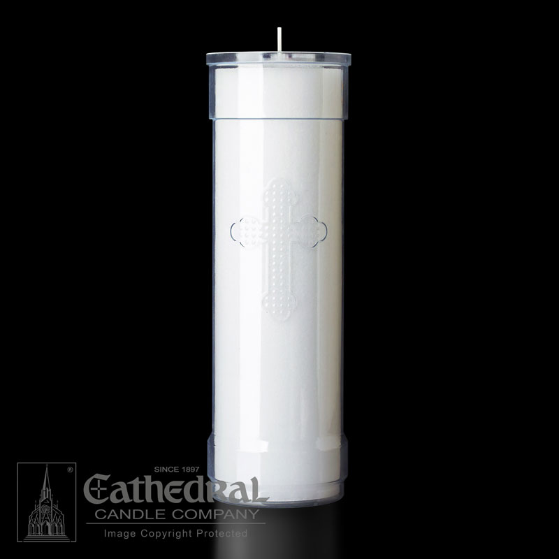Inserta Lite Candle | 7 Day | Clear Cross