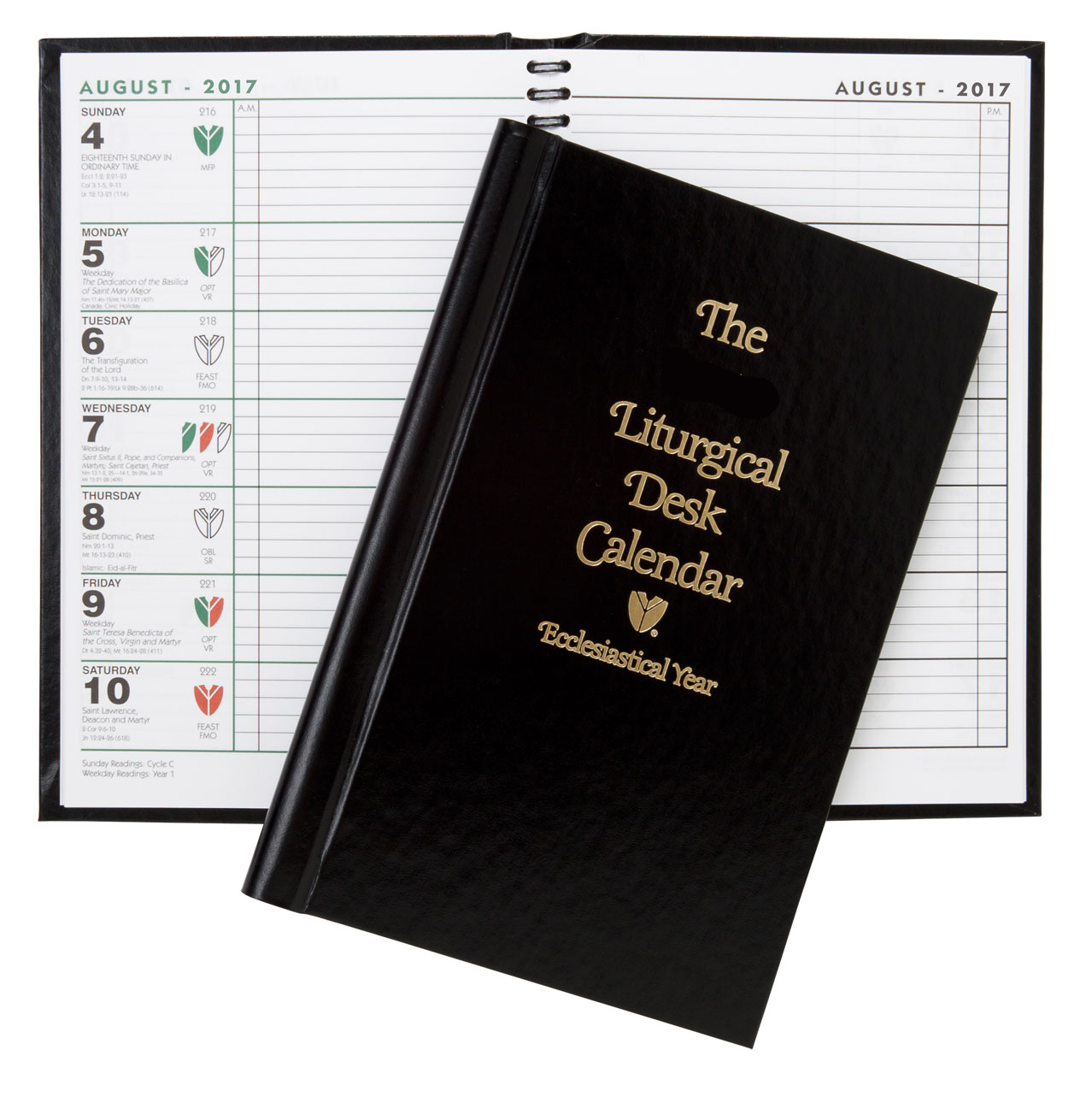 liturgical desk calendar hardcover 2018