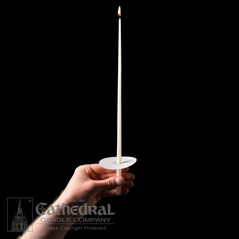 "Vigil Candles Congregational Tapers - 51% Beeswax, Longer Burn, 14"", 100/Box"