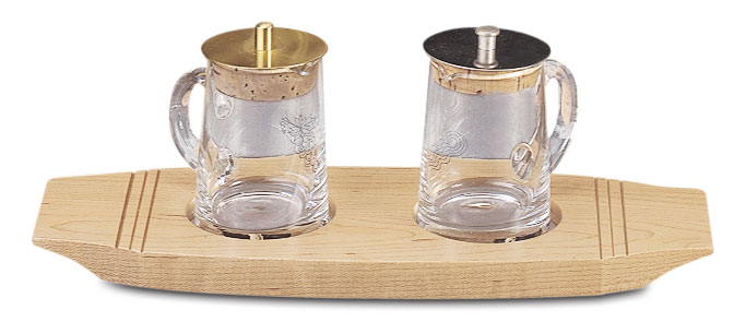 Maple Wood Cruet & Tray