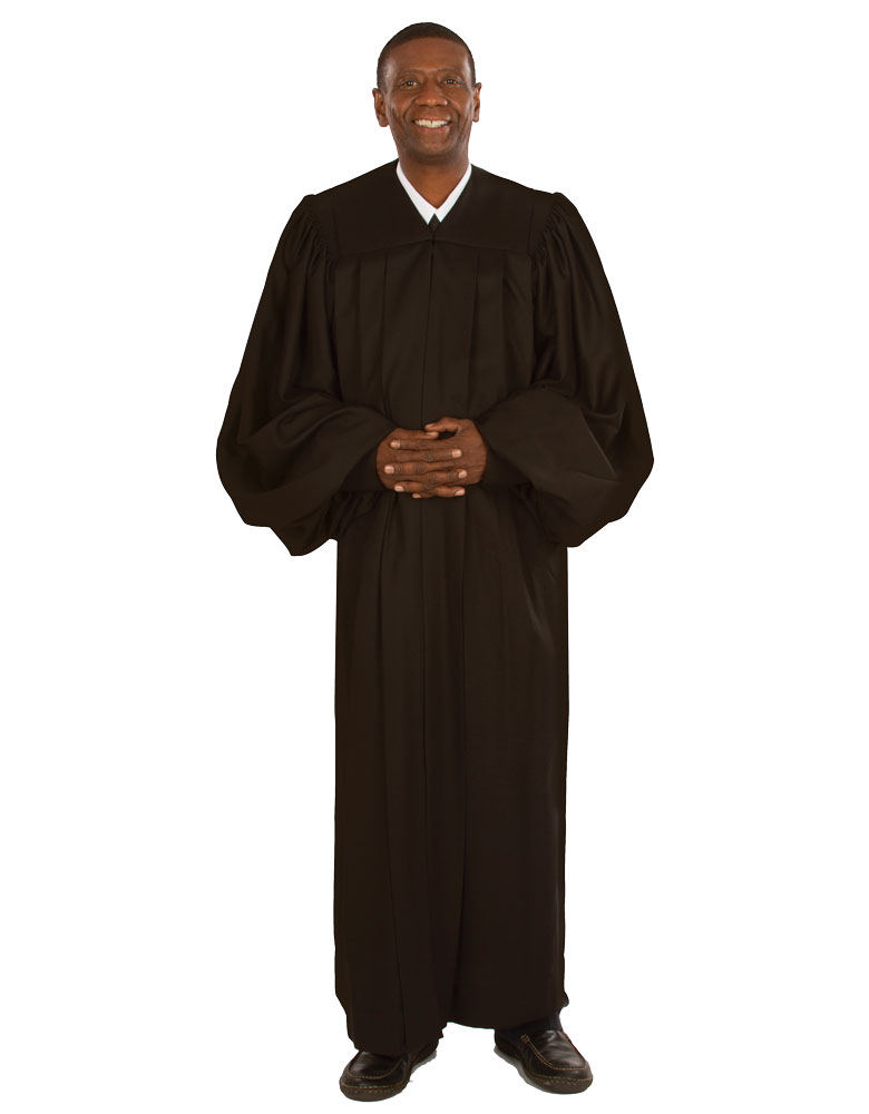 Men's Pulpit Robe | Black | Plymouth H-1