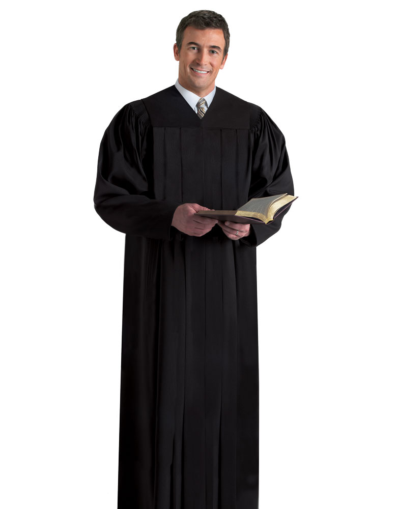 Men's Pulpit Robe | Black | Plymouth H-203