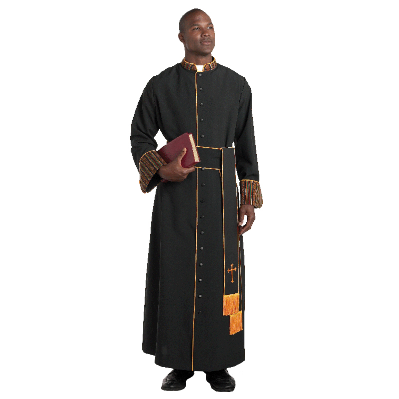 Men's Clergy Cassock | Kente | H-108