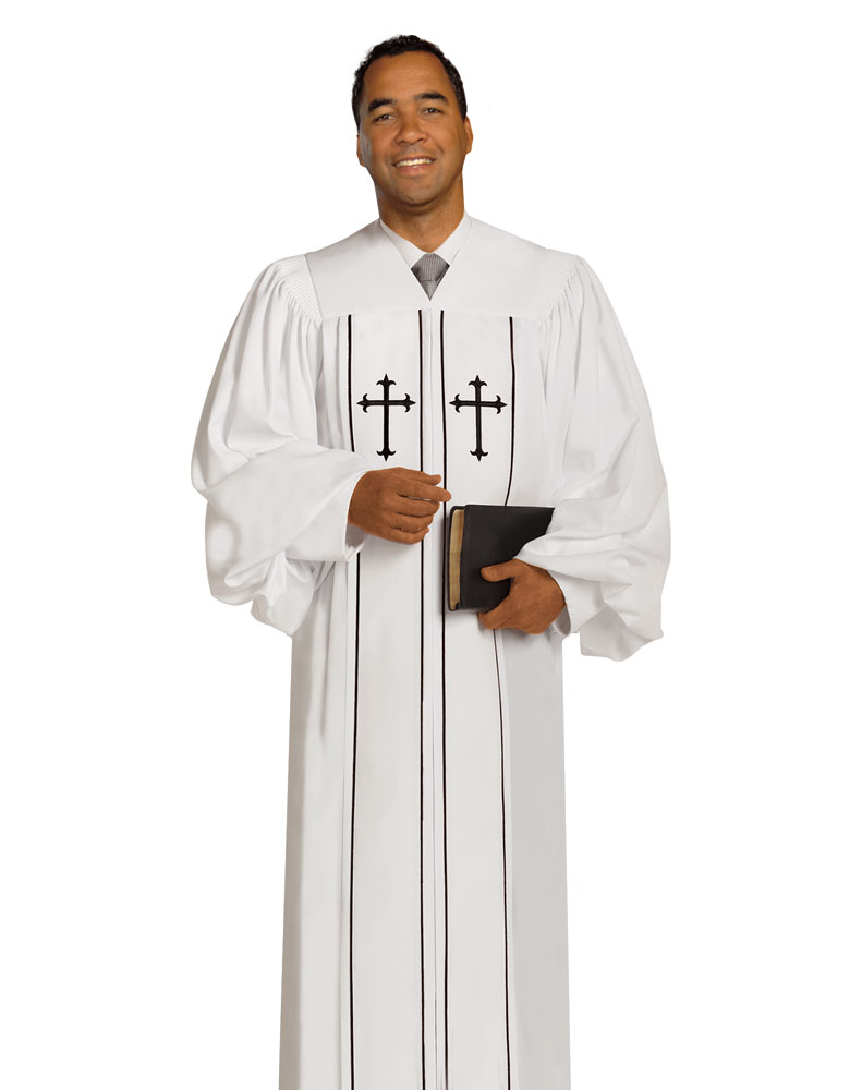 Men's Pulpit Robe | White | Cleric H-6