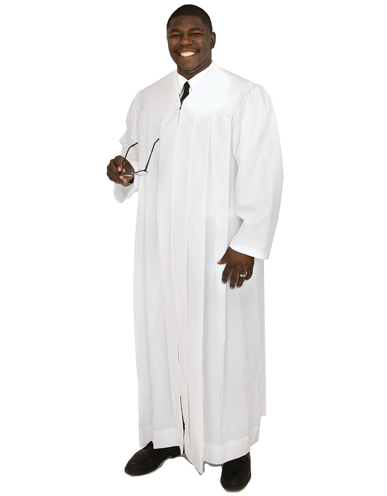 Men's Pulpit Robe | White | Plymouth H-216