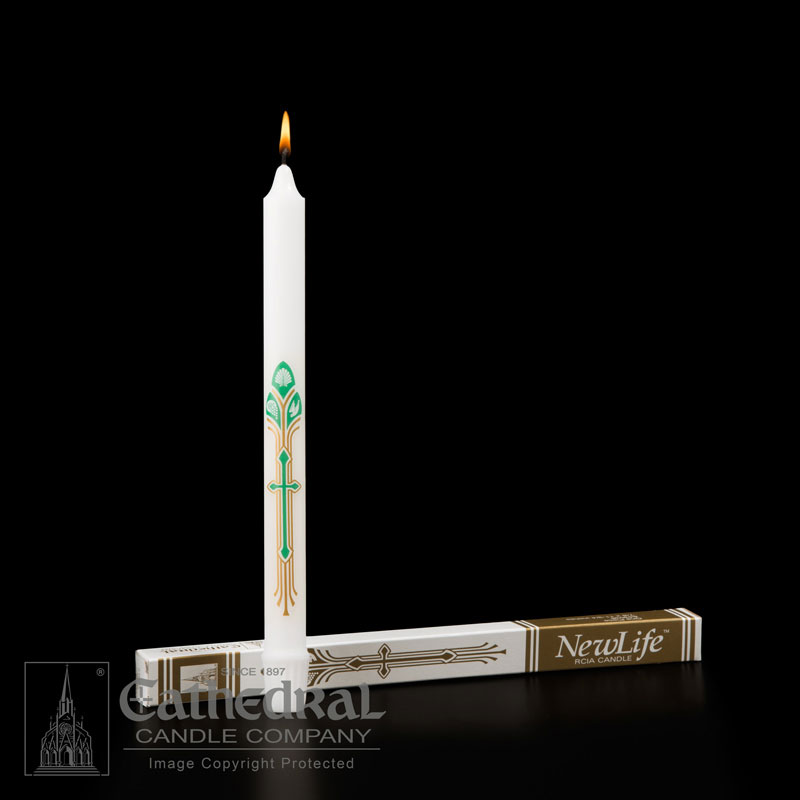 Cathedral Candle - New Life RCIA Candle